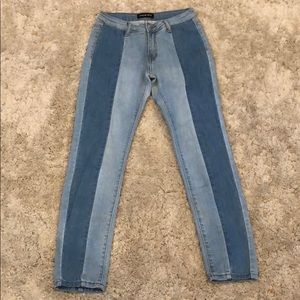 Fashion Nova Two-Toned Denim Jean